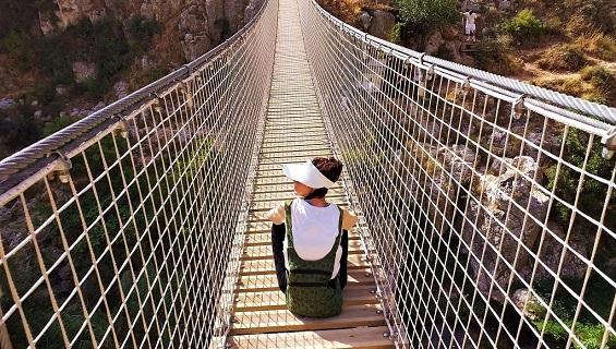 Tour. Ponte Tibetano